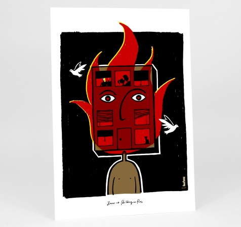 love-for-sale-michael-buchino-love-building-on-fire-13x19