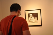 Looking at art, or playing on iPhone?
