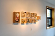 Trish's show is being hung.